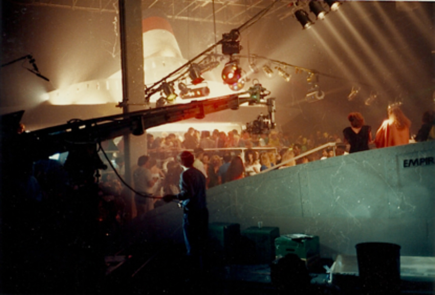 For <strong>Empire State</strong> a mock-up of an ocean liner was built as part of a nightclub. Photo by Adrian Carbutt.